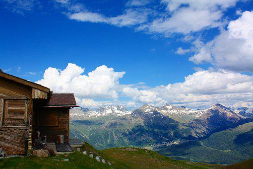 Chalet, Engadin, Switzerland, Mountain, Alpine, Alps