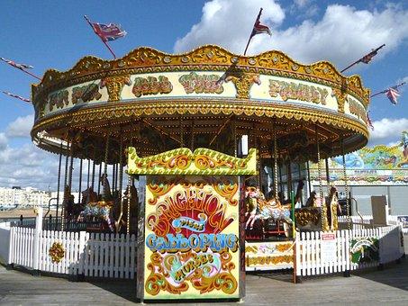 Roundabout, Carousel, Funfair, Horse, Amusement