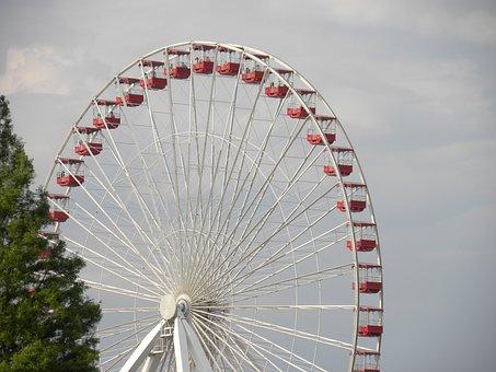 Ferris Wheel, Seats, Fair, Amusement, Wheel, Ferris