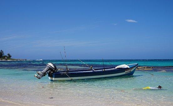 Caribbean, Sea, Blue, Antigua, Beach, Ocean, Boot