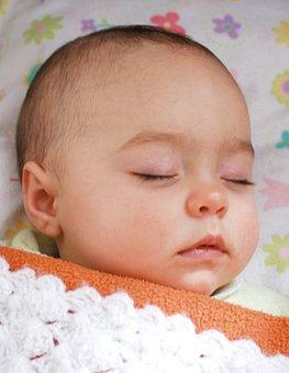 Baby, Dream, Sleeps, Bed, Coverlet, Blanket