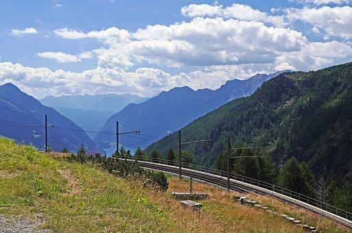 Val Poschiavo, Alp Grüm, Bernina Railway, Switzerland