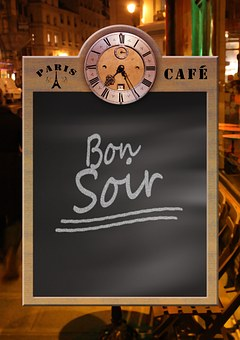 Menu, Board, Blackboard, Clock, Restaurant, Evening