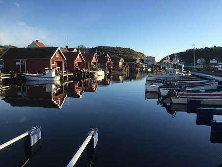 Boathouse, Sea, Bohuslän, Sweden