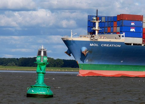 Lake, Elbe, More, Container, Boje, Daymark, Water, Port