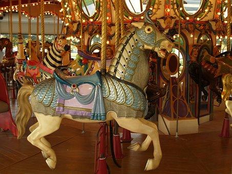 Carousel, Merry-go-round, Roundabout, Amusement, Fun