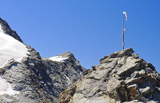 High Alps, Corvatsch, Webcam, Wind Sock, Rock, Ridge