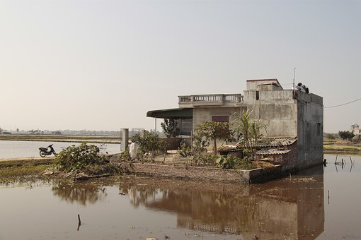 Countryside, Viet Nam, House, Water