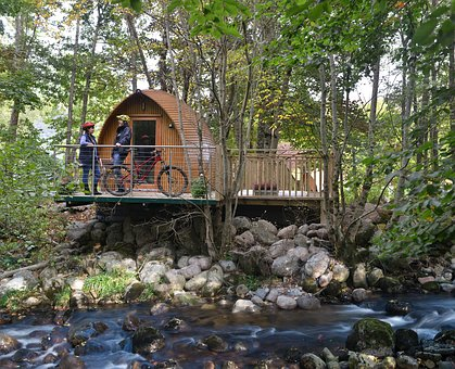 Downhill, Cycling, Bikes, Highlands, Scotland, Glamping