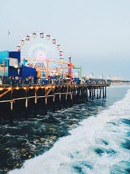 Santa Monica Pier, Santa Monica, Pier, Ferris Wheel
