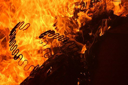 Fire, Background, Flame, Black, Hot, Blazing, Inferno
