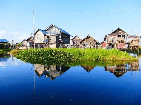 House, Stalk, Water, Stilt House, Hut, Stilt Houses