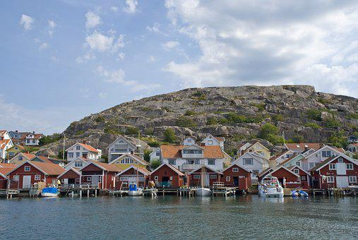 Hunnebostrand, Boathouses, The West Coast, Bohuslän