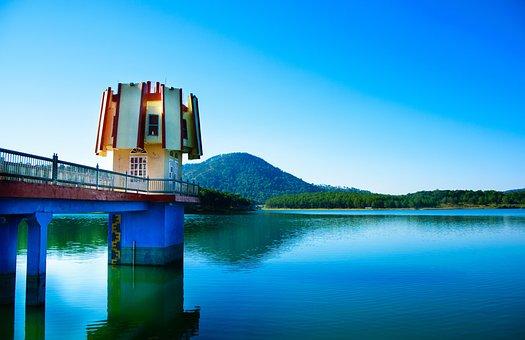Lake, Blue, Water, Nature, Reflection, Sky, Landscape