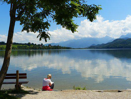 Lake Weissensee, Lake, Waters, Mirroring, Uferweg