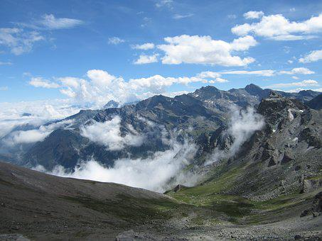 Mountain, Panorama, Away From, Alps, Mountains, Valley