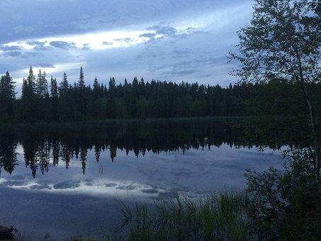 Lake, Landscape, Finnish, Kainuu, Beach, Summer, Nature