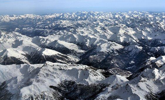 Alps, Landscape, Mountains, Sky, Clouds, Nature
