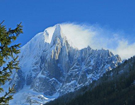 Alps, Chamonix, Needle Of The Drus, Green Needle