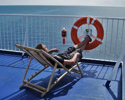 On Lake, On Deck, Sun Deck, Stena Ferry, Relax, Sun