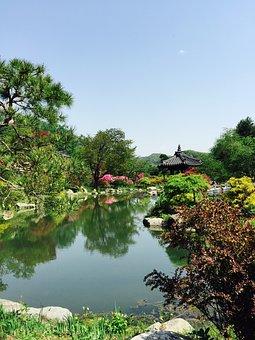 Pond, Belvedere, Lake, Landscape, On Time