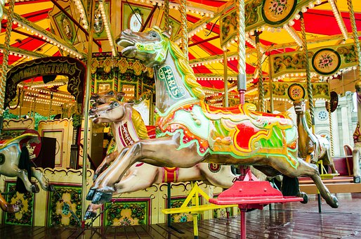 Carousel, Park, Holiday, Roundabout, Fun, Horse