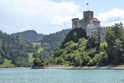 Castle Ruins, Pieniny Top, Poland, Slovakia, Monuments