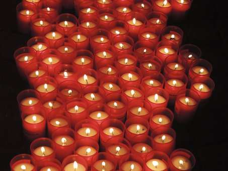 Candles, Pray, Red, Faith, Holy, Fire, Warm, Light