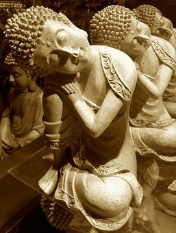 Buddha, Fig, Buddhism, Rest, Relaxation, Stone Figure