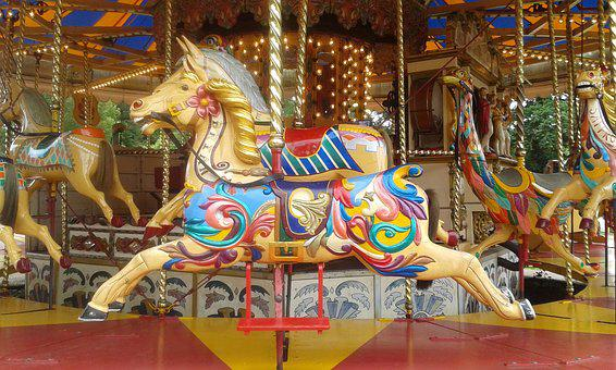 Carousel Horse, Victorian Carousel, Ride, Vintage