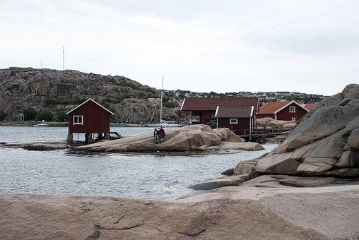 Hunnebostrand, Sweden, Sea, Himmel, Water, Salt Water