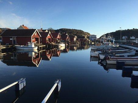 Boathouse, Sea, Bohuslän, Sweden