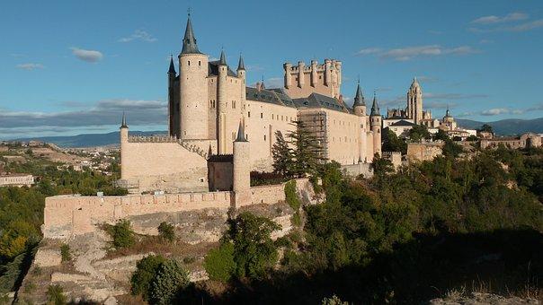 Alcázar, Segovia, City, Spain, Castle