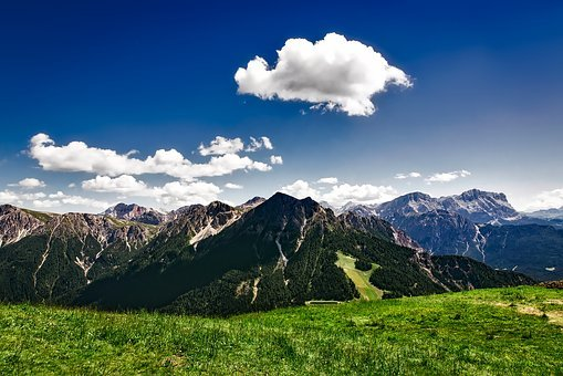 Italy, Alps, Landscape, Scenic, Sky, Clouds, Summer