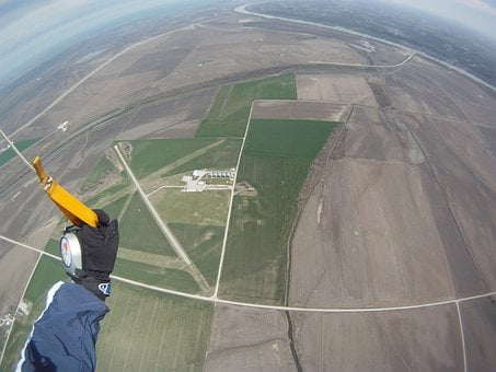 Skydiving, Sky, Parachuting, Flying, Extreme, Sport