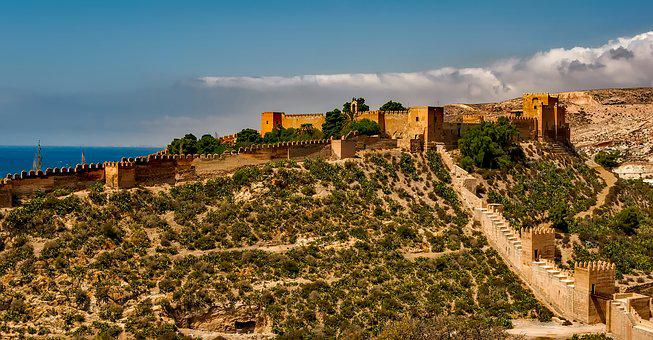 Alcazaba, Spain, Fortress, Structure, Architecture
