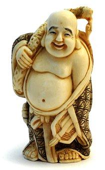 Buddha, Statue, Mammoth Ivory, Art, Japanese