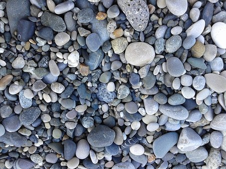 Pebbles, Stones, Sea, Bathing Beach, Smooth Stone