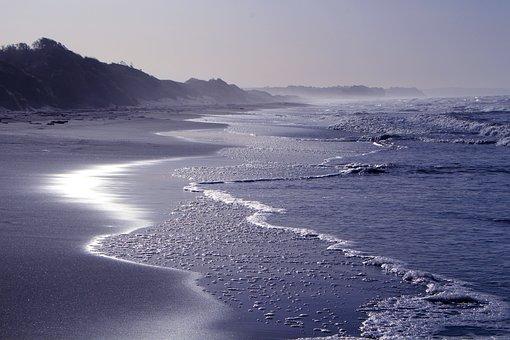 Beach, Sun, Sea, Sunset, Back Light, Sun And Sea