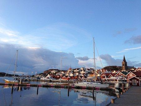 Fjällbacka, Sweden, Archipelago, Bohuslan, Harbor