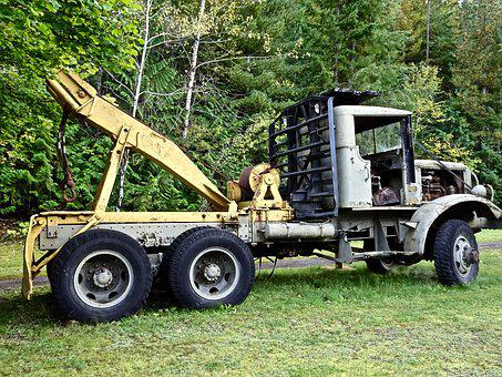 Log Truck, Transport, Trailer, Wood, Vehicle, Logging