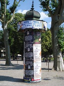 Column Of Posters, Urban Furniture, Posters