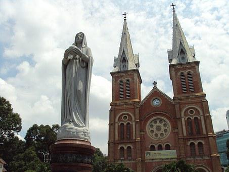 Image, Cathedral, Ho Chi Minh City, Viet Nam
