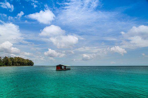 Phu Quoc, Island, Viet Nam, Ocean, Floating, House