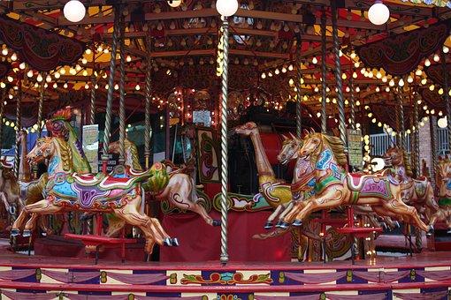 Carousel, Merry-go-round, Roundabout, Fair, Vintage