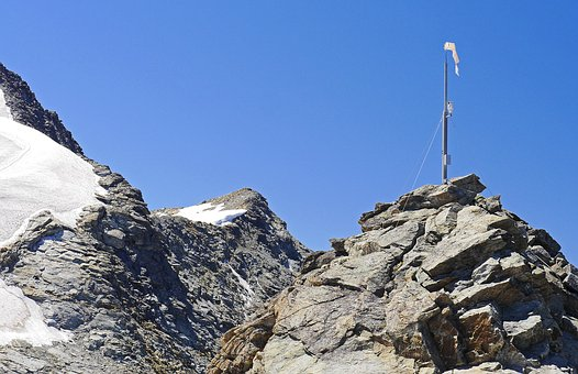 High Alps, Corvatsch, Webcam, Wind Sock, Rock, Ridge