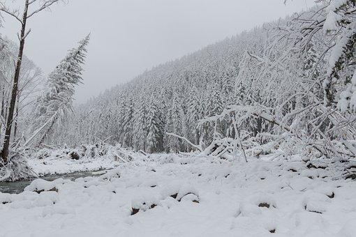 Nature, Mountains, Landscape, Far East, Snow, Winter