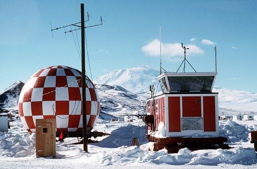 Antarctica, Winter, Snow, Ice, Sky, Clouds, Mountains