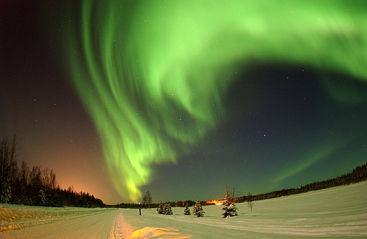 Alaska, Wilderness, Sky, Aurora Borealis