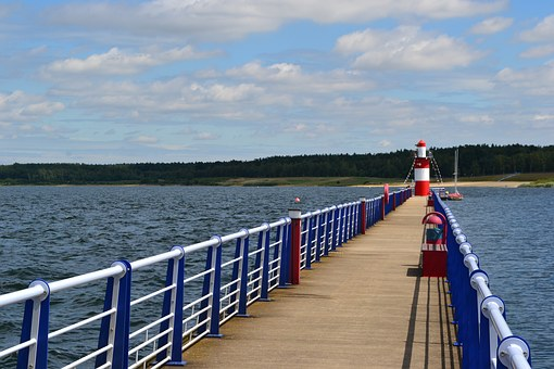 Lighthouse, Lake, Water, Bärwalder See, Klitten, Port